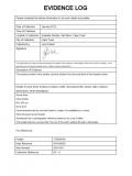 Liza Grobler 001 - Evidence Log